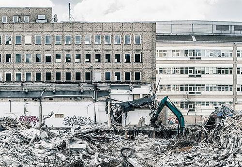 Rivning Kabelfabrik Älvsjö