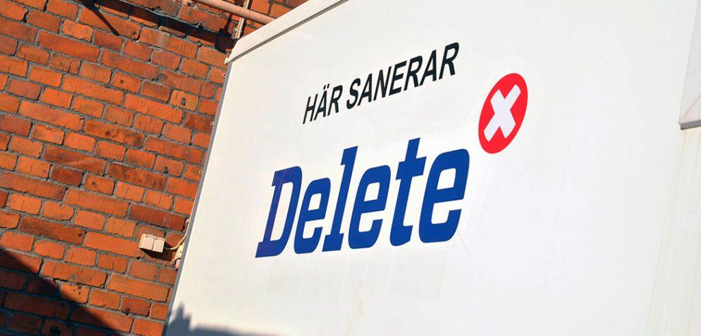 Delete sanering