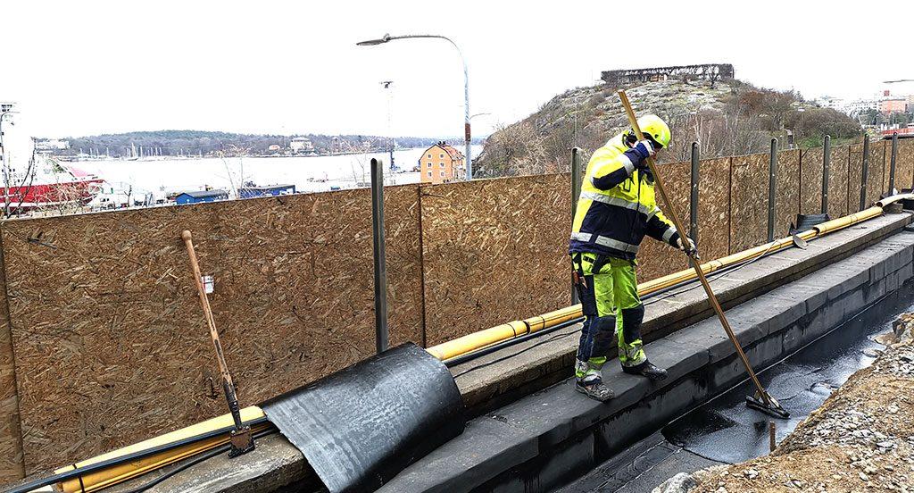 Tätskiktsrenovering på Londonviadukten Delete W-tech