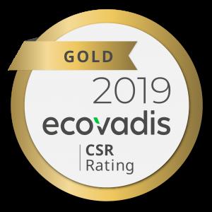 Guldmedalj i EcoVadis hållbarhetsgradering