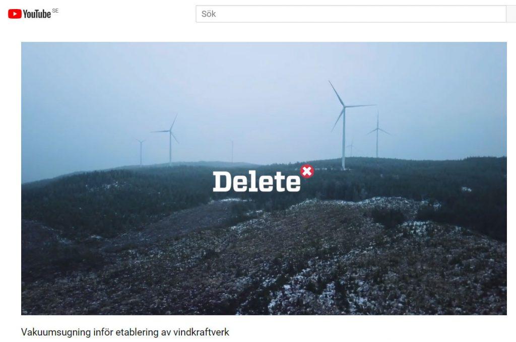 Vakuumsugning etablering vindkraftverk - Delete