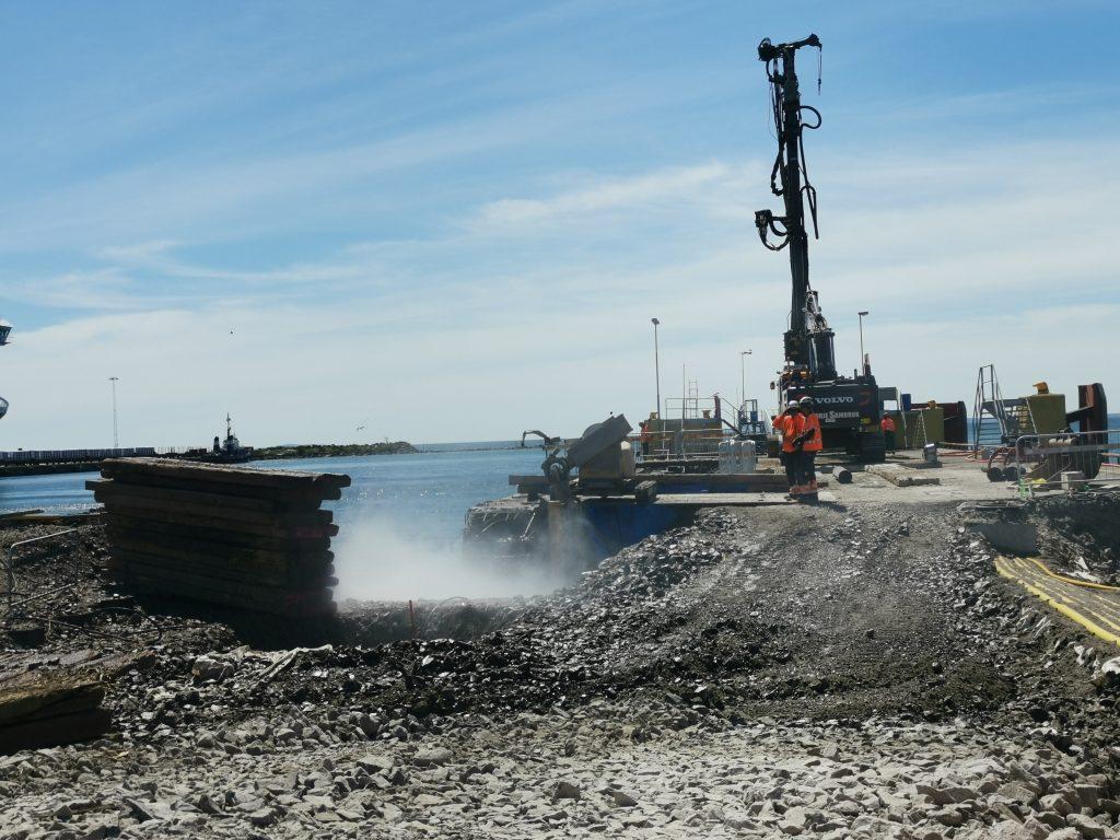 Vattenbilning kaj åt Karlshamns hamn - Delete